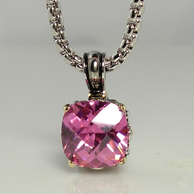 Pink Necklace Pendant Inspired