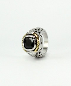 Black Onyx Ring With Crystals