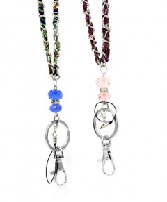 Beaded Crystal Art Deco Lanyard Badge Id Holder