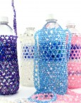 Beaded Water Bottle Holder Aurora Borealis Beads
