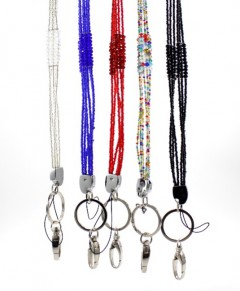 Beaded Badge ID Holder Lanyard