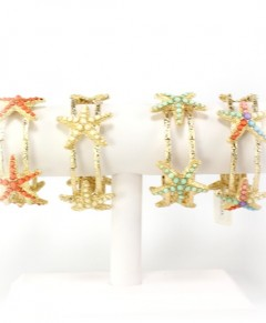 Antique Gold Starfish Bracelets Stretch