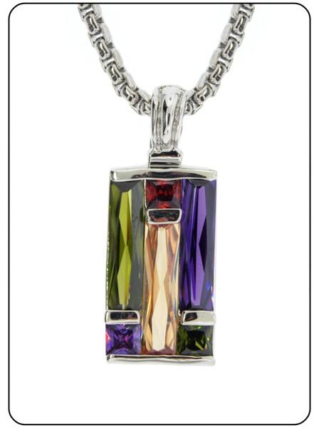 Multi Stone Art Deco Crystal Neckace