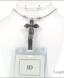 Lanyard Cross Id Badge Holder
