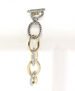 Chain Link Gold Silver Tone Bracelet