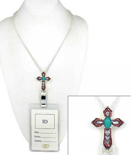 Cross Badge Holder Id Holder Lanyard