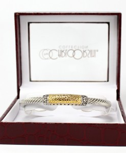 Carlo Orsini Gold And Silver Tone Cable Style Bracelet