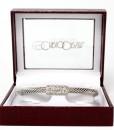 Carlo Orsini Cable Style Bracelet Silver With Pave CZ