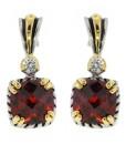 Garnet Jewelry Earrings With Cubic Zirconia