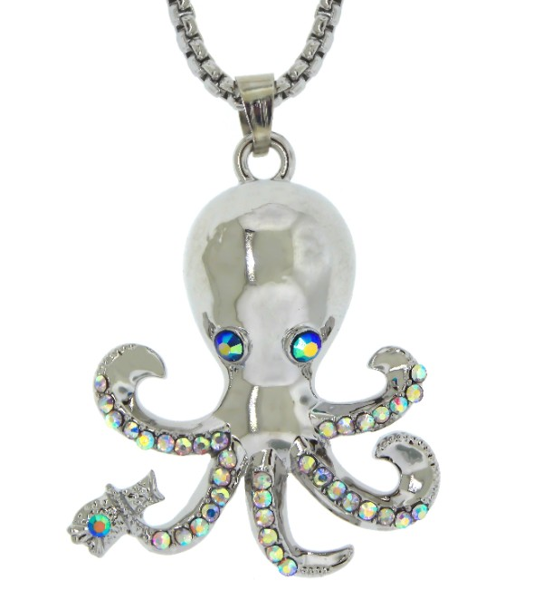 A silver octopus necklace sea life jewelry pendant n4327 for Sell gold jewelry seattle