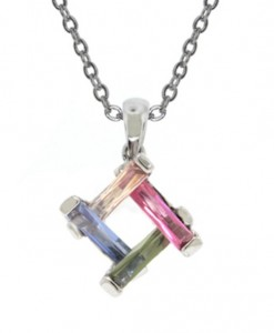 Art Deco Necklace Dainty Multi Stone