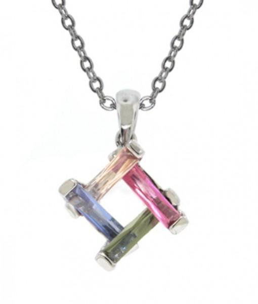 Art Deco Necklace Dainty Multi Stone