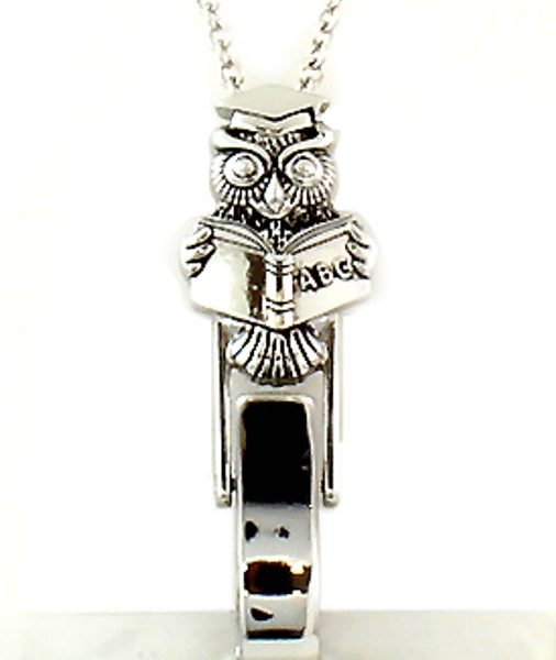 Lanyard Owl Book Owl Teachers Gift Badge Id Holder
