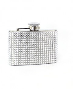 Crystal Hip Flask For Women Stainless Steel