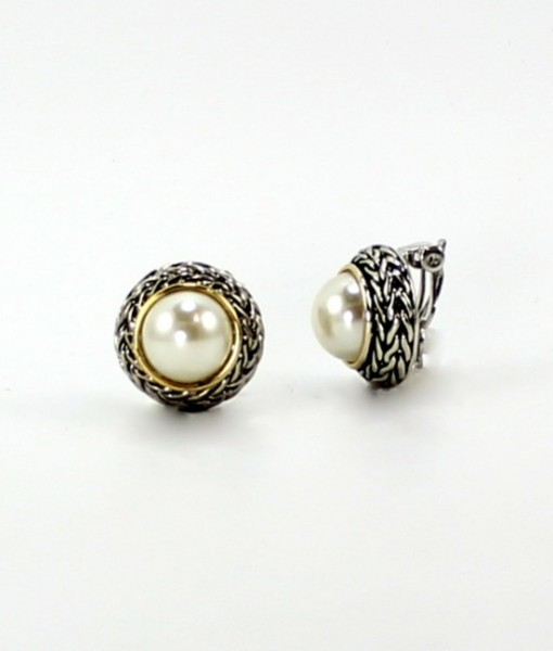 Pearl Clip On Classic Style Earrings