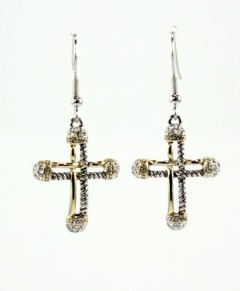 Cross Art Deco Earrings