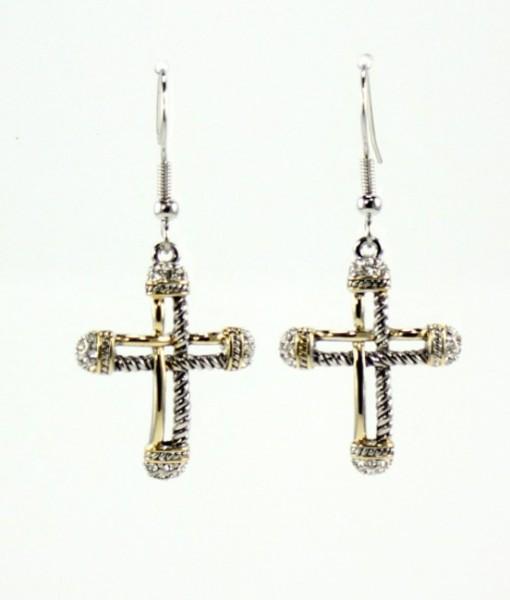Cross Art Deco Earrings