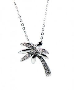 Palm Tree Necklace | Palm Tree Pendant Necklace
