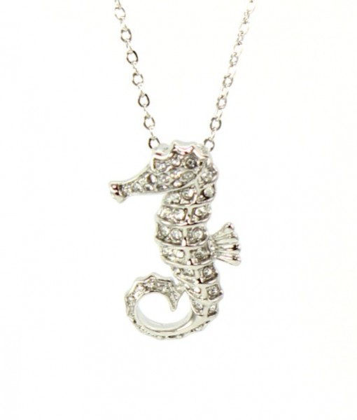 Seahorse Jewelry Seahorse Necklace With Rhinestones