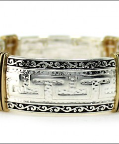 Greek Bracelet Design Cuff Stretch Bracelet