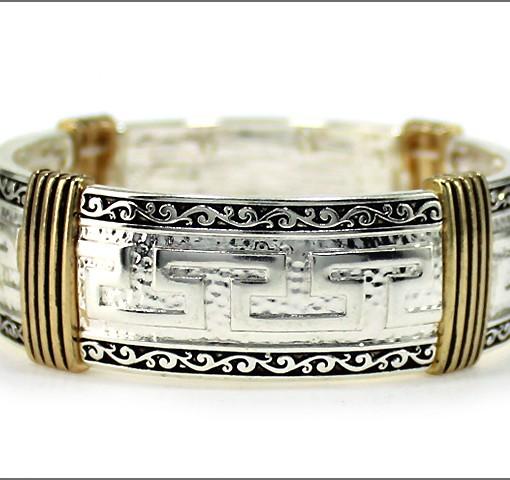 Greek Bracelet Design Cuff Stretch Bracelet