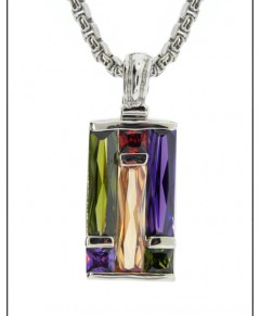 Multi Stone Art Deco Crystal Neckace
