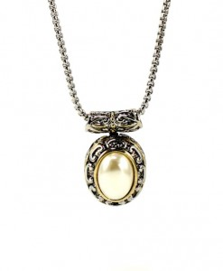 Vintage Pearl Necklace Pendant