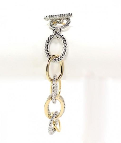 Chain Link Gold Silver Tone Bracelet
