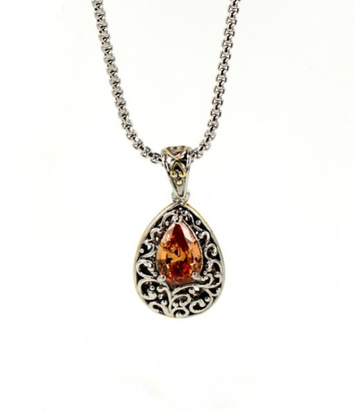 Champagne Necklace Pendant Antique Design