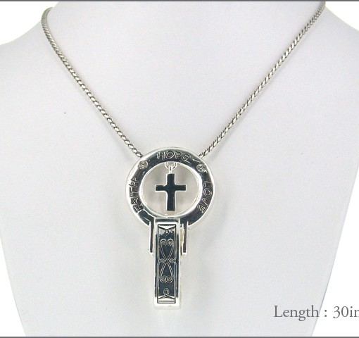 Cross Clip Lanyard Id Holder Floating Cross