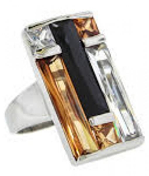 Art Deco Ring Multi Stone Rectangular