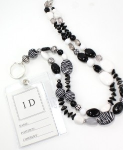 Lanyard Beaded Id Holder