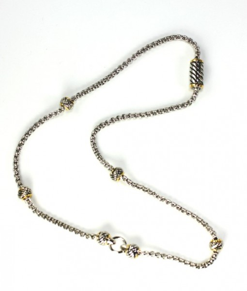 Magnetic Chain Gold And Silver