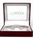 Carlo Orsini Cable Style Bracelet Silver With Pave CZ