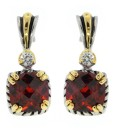 Garnet Jewelry Earrings With Cubic Zirconia