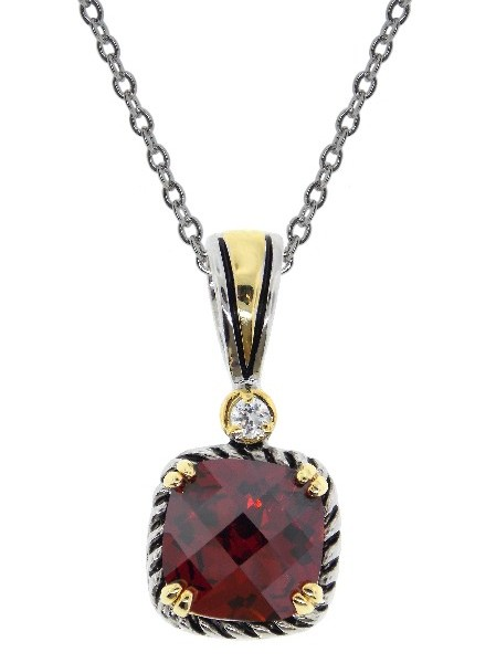 Garnet Necklace Pendant