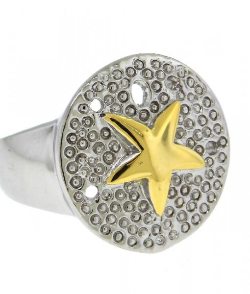 Starfish Ring Gold And Silver Tone