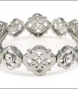 Antique Vintage Bracelet Silver Tone Stretch