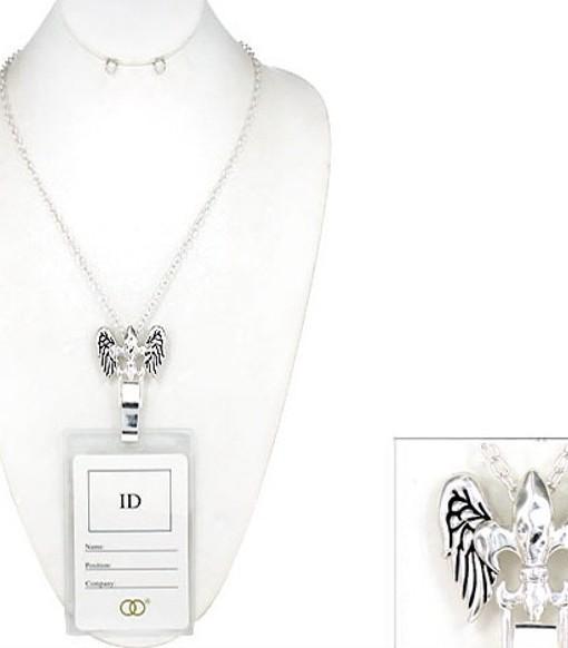 Lanyard Fleur De Lis With Angel Wings