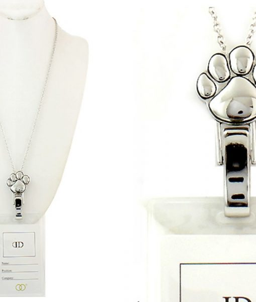 Paw Print Lanyard Animal Lovers Badge Id Holder