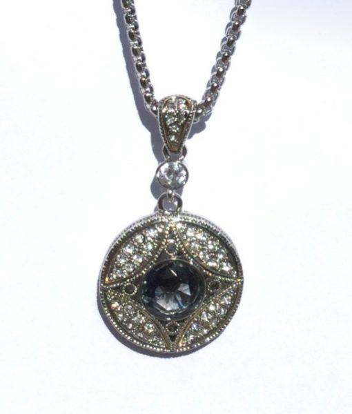 Pendant Antique Black Diamond Look Crystal Necklace