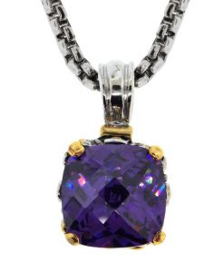 Amethyst Pendant Statement Necklace